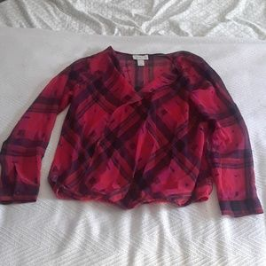 Red and black blouse